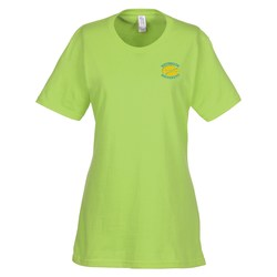 View a larger, more detailed picture of the Essential Ring Spun Cotton T-Shirt - Ladies - Colors - Emb