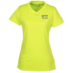 View a larger, more detailed picture of the New Balance NDurance Athletic V-Neck Tee - Ladies - Emb