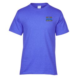 View a larger, more detailed picture of the Port Tagless 5 4 oz T-Shirt Heathers - Emb