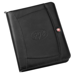 View a larger, more detailed picture of the Wenger iPad Journal - Debossed - 24 HR