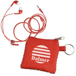 View a larger, more detailed picture of the Zip It Up Ear Buds w Pouch
