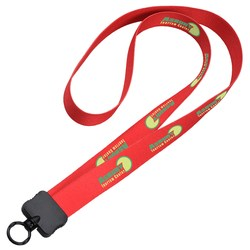 View a larger, more detailed picture of the Dye-Sublimated Stretchy Lanyard - 3 4 - 34 - 24 hr