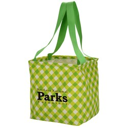 View a larger, more detailed picture of the Utility Tote - 12-1 2 x 11 - Gingham - 24 hr