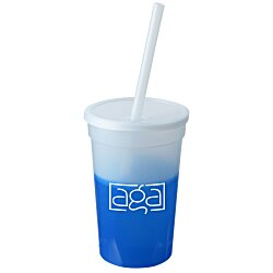 View a larger, more detailed picture of the Mood Stadium Cup with Straw - 17 oz