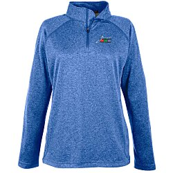 View a larger, more detailed picture of the Compass Stretch Tech-Shell 1 4 Zip Pullover - Ladies - Emb