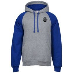 View a larger, more detailed picture of the Jerzees NuBlend Colorblock Hoodie - Screen