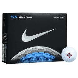 View a larger, more detailed picture of the Nike RZN Black Golf Ball - Dozen - Quick Ship