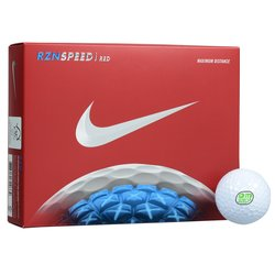 View a larger, more detailed picture of the Nike RZN Red Golf Ball - Dozen - Quick Ship