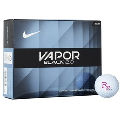View a larger, more detailed picture of the Nike Vapor Black 2 0 Golf Ball - Dozen - Standard Ship