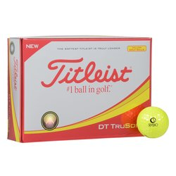 View a larger, more detailed picture of the Titleist DT So-Lo Yellow Golf Ball - Dozen - Quick Ship