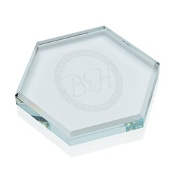 View a larger, more detailed picture of the Glass Hex Paperweight