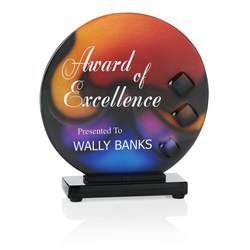 View a larger, more detailed picture of the Trilogy Sphere Art Glass Award