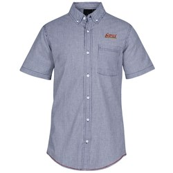 View a larger, more detailed picture of the Burnside Stretch-Stripe Short Sleeve Shirt