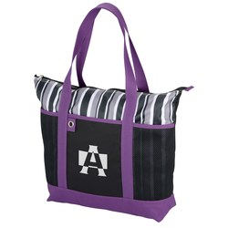 View a larger, more detailed picture of the Banded Zip Tote