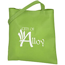 View a larger, more detailed picture of the Stay Shut Non-Woven Flat Tote