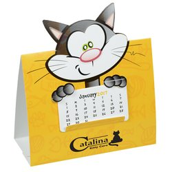 View a larger, more detailed picture of the Die-Cut Desk Calendar - Cat