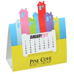 View a larger, more detailed picture of the Die-Cut Desk Calendar - House