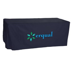 View a larger, more detailed picture of the Open-Back Fitted Nylon Table Cover - 6 - Heat Transfer