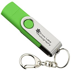 View a larger, more detailed picture of the Smartphone USB Swing Drive - 4GB