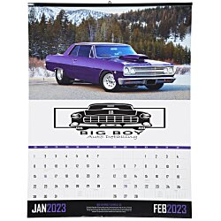View a larger, more detailed picture of the Muscle Cars Calendar w 2-Month View