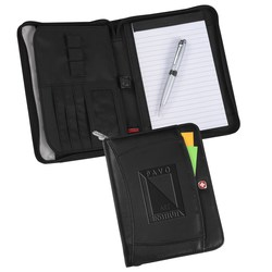 View a larger, more detailed picture of the Wenger Jr Zippered Portfolio Set - Debossed