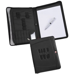 View a larger, more detailed picture of the Wenger Zippered Padfolio Set - Debossed