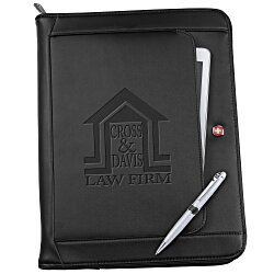View a larger, more detailed picture of the Wenger Executive Leather Portfolio Set