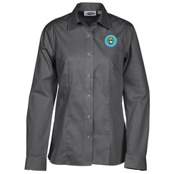 View a larger, more detailed picture of the Signature Non-Iron Dress Shirt - Ladies - 24 hr
