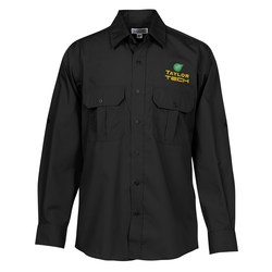 View a larger, more detailed picture of the Roll-Up Sleeve Double Pocket Shirt - Men s - 24 hr