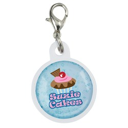 View a larger, more detailed picture of the Retractable Badge Holder Charm - Round