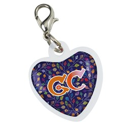 View a larger, more detailed picture of the Retractable Badge Holder Charm - Heart