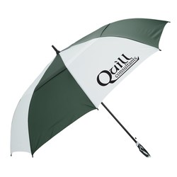 View a larger, more detailed picture of the WindPro Vented Auto Open Golf Umbrella - 62 Arc - Closeout