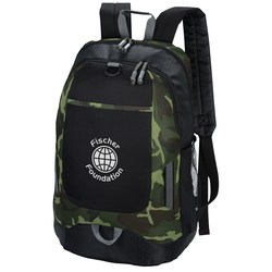 View a larger, more detailed picture of the Maverick Laptop Backpack - Camo - 24 hr