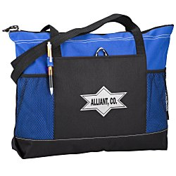 View a larger, more detailed picture of the Select Zippered Tote - Screen - 24 hr