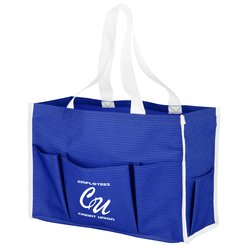 View a larger, more detailed picture of the Chevron Multi-Purpose Tote - 24 hr