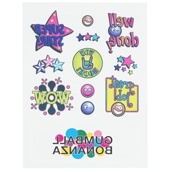 View a larger, more detailed picture of the Temporary Tattoo Mini Sheet- Wow Words