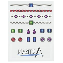 View a larger, more detailed picture of the Temporary Tattoo Mini Sheet- Jewelry