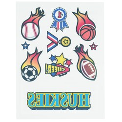 View a larger, more detailed picture of the Temporary Tattoo Mini Sheet- Sports