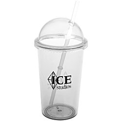 View a larger, more detailed picture of the Domed Tumbler with Straw - 20 oz