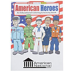 View a larger, more detailed picture of the American Heroes Coloring Book