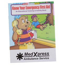 View a larger, more detailed picture of the Know Your Emergency First Aid Coloring Book