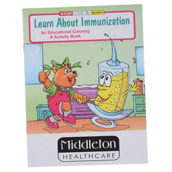 View a larger, more detailed picture of the Learn About Immunization Coloring Book