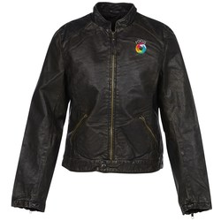 View a larger, more detailed picture of the Burk s Bay Retro Leather Jacket - Ladies