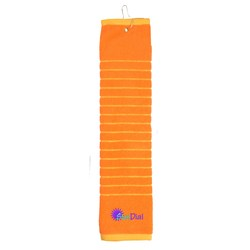 View a larger, more detailed picture of the Striped Golf Towel - Closeout