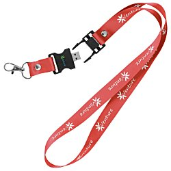 View a larger, more detailed picture of the Lanyard USB Drive - 256MB