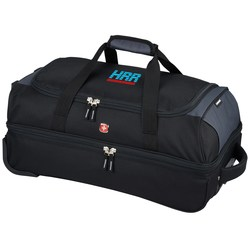 View a larger, more detailed picture of the Wenger 22 Drop Bottom Duffel - Embroidered
