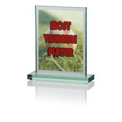 View a larger, more detailed picture of the Panel Jade Glass Award - 7 - Full Color