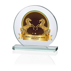 View a larger, more detailed picture of the Orbit Jade Glass Award - 7 - Full Color