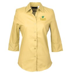 View a larger, more detailed picture of the Soft Collar Sleeve Poplin Shirt Ladies - Closeout Color