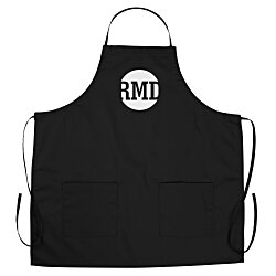 View a larger, more detailed picture of the BBQ Apron with Pockets - Color - 24 hr